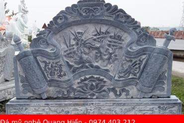 20 Bình phong đá lăng mộ, nhà thờ họ đẹp nhất năm 2022